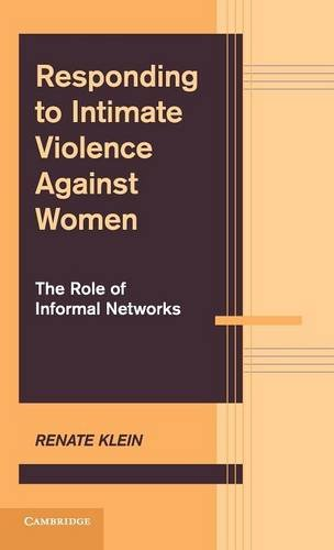 9780521849852: Responding to Intimate Violence against Women: The Role of Informal Networks (Advances in Personal Relationships)