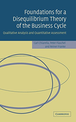 9780521850254: Foundations for a Disequilibrium Theory of the Business Cycle: Qualitative Analysis and Quantitative Assessment