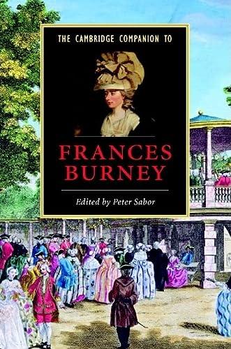 9780521850346: The Cambridge Companion to Frances Burney (Cambridge Companions to Literature)