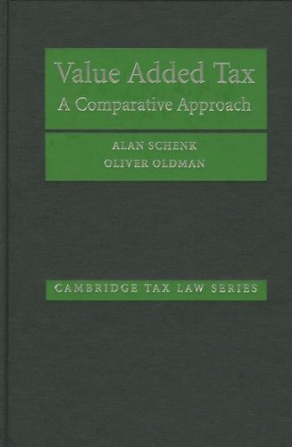 9780521851121: Value Added Tax: A Comparative Approach (Cambridge Tax Law Series)