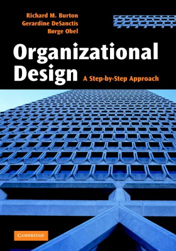 9780521851763: Organizational Design: A Step-by-Step Approach