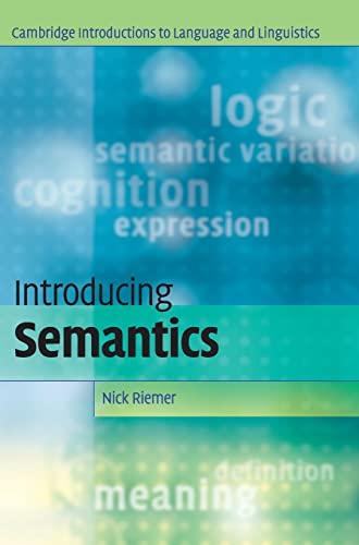 9780521851923: Introducing Semantics