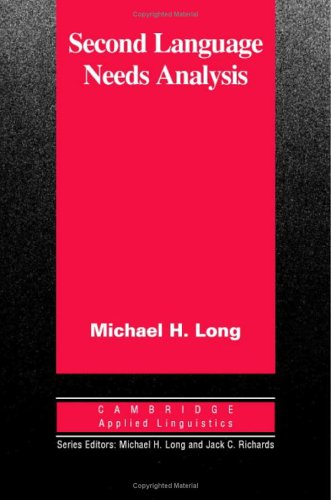 9780521853125: Second Language Needs Analysis (Cambridge Applied Linguistics)