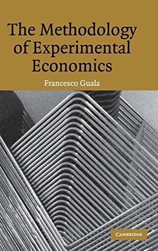 9780521853408: The Methodology of Experimental Economics