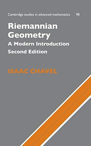 9780521853682: Riemannian Geometry: A Modern Introduction (Cambridge Studies in Advanced Mathematics)