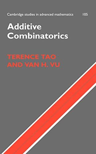 9780521853866: Additive Combinatorics