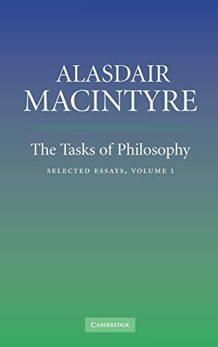 9780521854375: The Tasks of Philosophy: Volume 1 Hardback: Selected Essays: v. 1