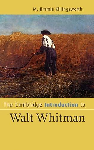 9780521854566: The Cambridge Introduction to Walt Whitman (Cambridge Introductions to Literature)