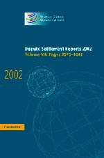 Dispute Settlement Reports 2002: Volume 7, Pages 2579-3042 (Hardcover): World Trade Organization