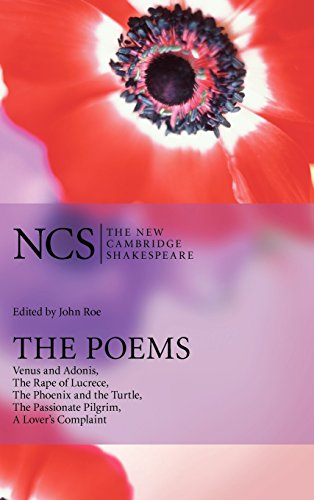 9780521855518: The Poems: Venus and Adonis, The Rape of Lucrece, The Phoenix and the Turtle, The Passionate Pilgrim, A Lover's Complaint (The New Cambridge Shakespeare)