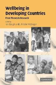 9780521857512: Wellbeing in Developing Countries: From Theory to Research