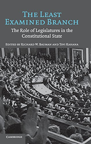 9780521859547: The Least Examined Branch: The Role of Legislatures in the Constitutional State