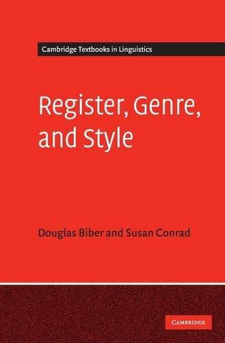 9780521860604: Register, Genre, and Style (Cambridge Textbooks in Linguistics)