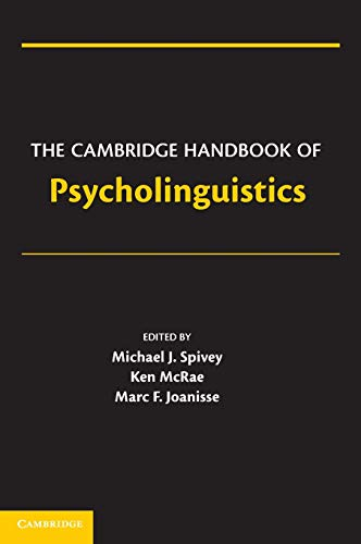 9780521860642: The Cambridge Handbook of Psycholinguistics Hardback (Cambridge Handbooks in Psychology)