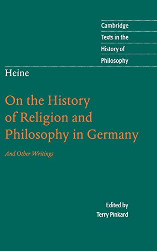 9780521861298: Heine: 'On the History of Religion and Philosophy in Germany' (Cambridge Texts in the History of Philosophy)