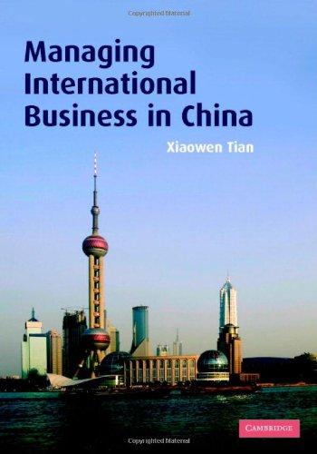 9780521861885: Managing International Business in China