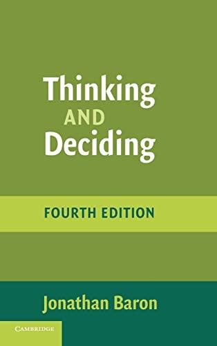 9780521862073: Thinking and Deciding