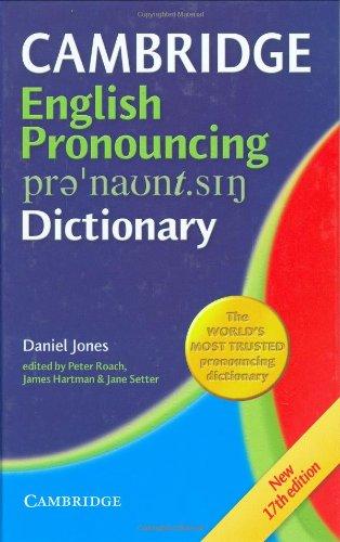 9780521862301: Cambridge Pronouncing Dictionary (English and English Edition)
