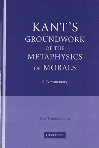 9780521862820: Kant's Groundwork of the Metaphysics of Morals: A Commentary