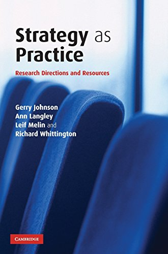 9780521862936: Strategy as Practice: Research Directions and Resources
