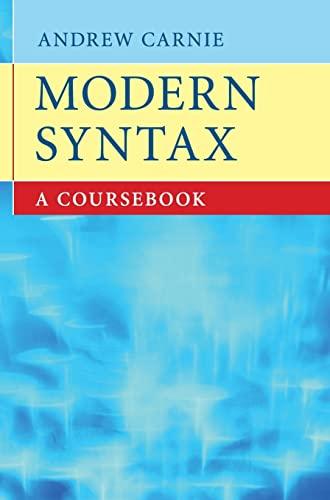 9780521863353: Modern Syntax: A Coursebook
