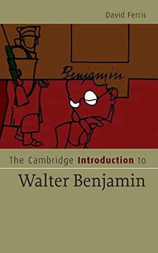 9780521864589: The Cambridge Introduction to Walter Benjamin Hardback (Cambridge Introductions to Literature)