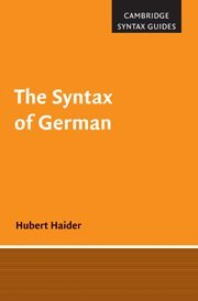 9780521865258: The Syntax of German
