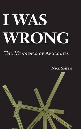 9780521865524: I Was Wrong: The Meanings of Apologies