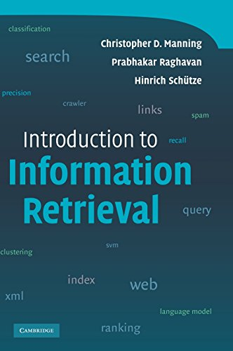 Introduction to Information Retrieval: Christopher D. Manning