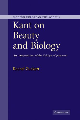 9780521865890: Kant on Beauty and Biology: An Interpretation of the 'Critique of Judgment' (Modern European Philosophy)