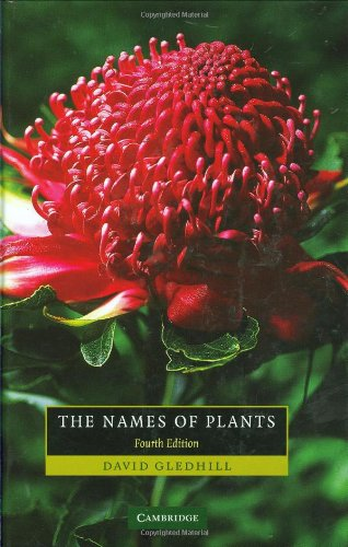 9780521866453: The Names of Plants