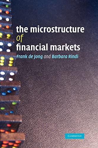 9780521867849: The Microstructure of Financial Markets Hardback (Quantitative Methods for Appli)