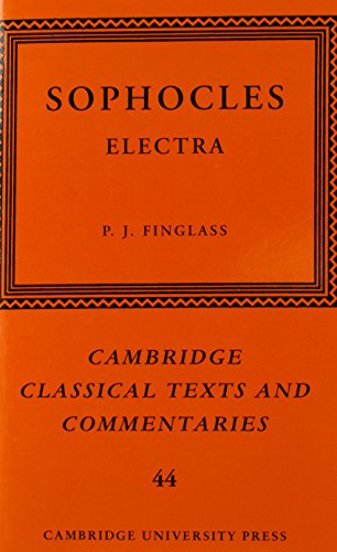 9780521868099: Sophocles: Electra (Cambridge Classical Texts and Commentaries)