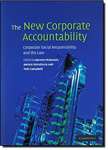 9780521868181: The New Corporate Accountability: Corporate Social Responsibility and the Law