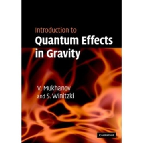 9780521868341: Introduction to Quantum Effects in Gravity