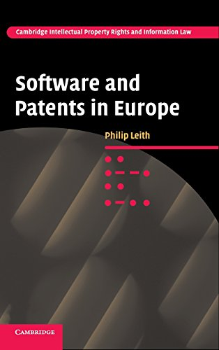 9780521868396: Software and Patents in Europe (Cambridge Intellectual Property and Information Law)