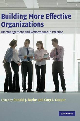 Building More Effective Organizations: HR Management and: Burke, Ronald