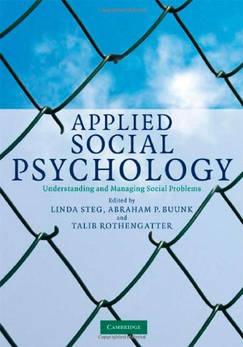 9780521869799: Applied Social Psychology: Understanding and Managing Social Problems