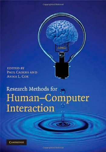 9780521870122: Research Methods for Human-Computer Interaction