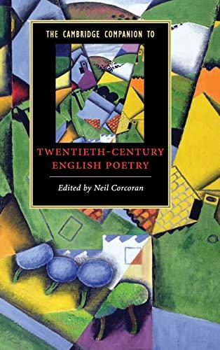 9780521870818: The Cambridge Companion to Twentieth-Century English Poetry (Cambridge Companions to Literature)