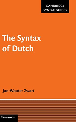 9780521871280: The Syntax of Dutch (Cambridge Syntax Guides)