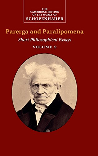9780521871853: Schopenhauer: Parerga and Paralipomena: Volume 2: Short Philosophical Essays (The Cambridge Edition of the Works of Schopenhauer)