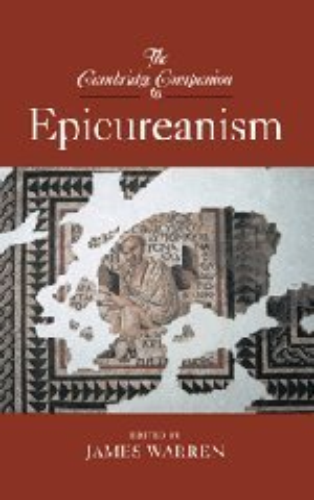 9780521873475: The Cambridge Companion to Epicureanism Hardback (Cambridge Companions to Philosophy)