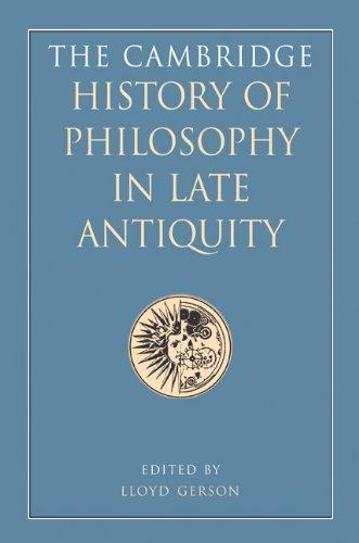 The Cambridge History of Philosophy in Late Antiquity 2 Volume Hardback Set