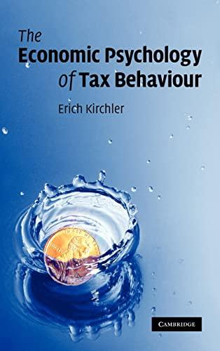 9780521876742: The Economic Psychology of Tax Behaviour