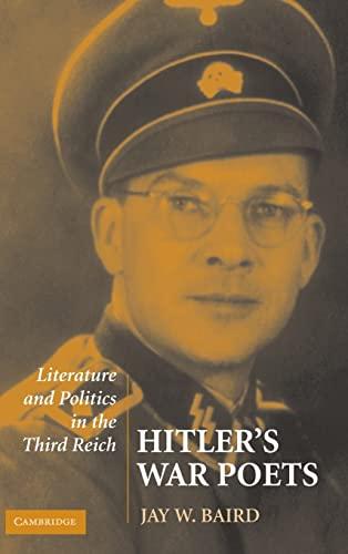 9780521876896: Hitler's War Poets: Literature and Politics in the Third Reich