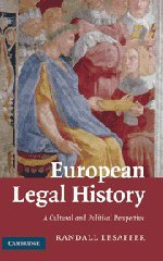 9780521877985: European Legal History: A Cultural and Political Perspective