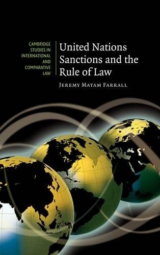 9780521878029: United Nations Sanctions and the Rule of Law