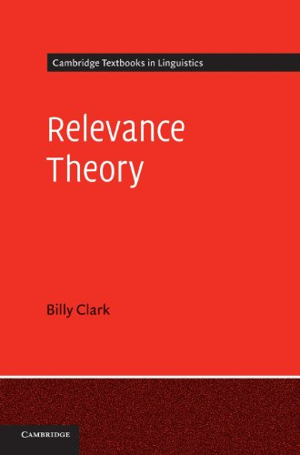 9780521878203: Relevance Theory