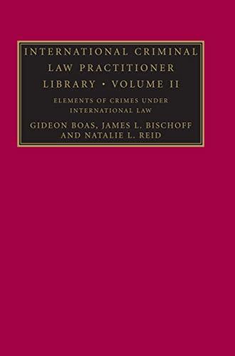 9780521878302: International Criminal Law Practitioner Library: Volume 2 (The International Criminal Law Practitioner)